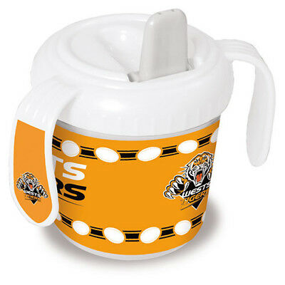 Wests Tigers NRL Training Sipper Sippy Cup With 2 Easy Grip Handles Gift