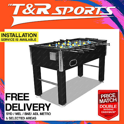 2018 NEW 4FT Black Soccer / Foosball Game Table for Kids FREE DELIVERY(T&C) AU