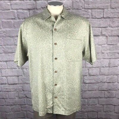 Tommy Bahama Button Front Casual Silk Shirt, Men's Size M (MS-130)