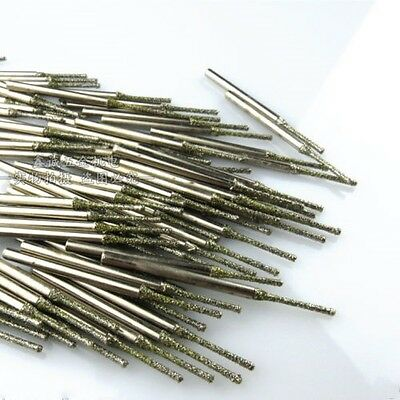 20 pieces 1MM  Diamond coated tipped SOLID BITS drills bit hole saw #M1589 QL