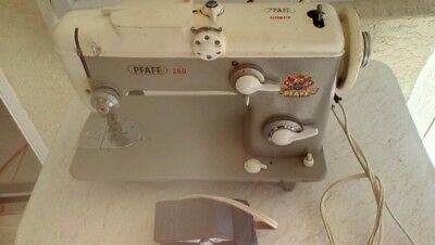 Vintage Phaff Sewing Machine Model 260 from Germany with foot pedal