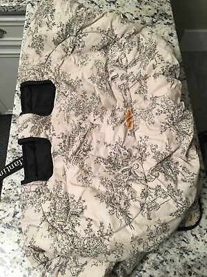 Infantino 2 In 1 Seat Shopping Cart Highchair Cover Black Tan
