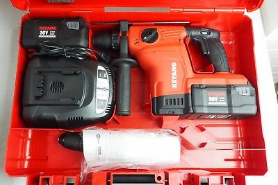 Keyang DH-3600L 36V Cordless Pneumatic Hammer Drill with batteries in case new