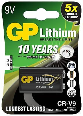 9V Battery GP Batteries 9 Volt Extra Long Life Lithium Battery