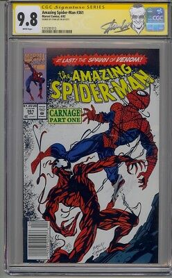 Amazing Spider-Man #361 Cgc 9.8 Ss Signed Stan Lee 1St App Carnage Newsstand
