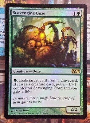 1x Scavenging Ooze *FOIL* M14 Magic the Gathering MTG Cards NM//LP
