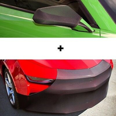 Camaro NoviStretch Front + Mirror Bra Covers Fits: 6th Gen 16-18 FBM650C + MC250