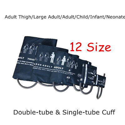 12Size Neonatal/Infant/Child/Adult/Thigh Blood Pressure Cuff for Patient Monitor