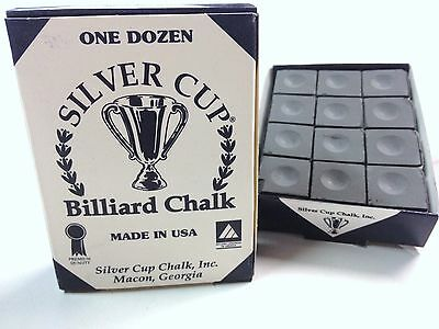 Quality USA Silver Cup Pool Snooker Billiard Cue Tip Table Chalk GREY