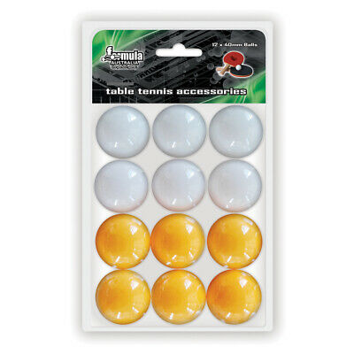 Table Tennis Balls Yellow and White Ball Ping Pong Balls Pack of 12 Balls SALE