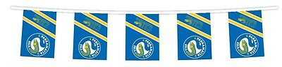 NRL PARRAMATTA EELS Bunting hanging Flag Banner 5m long with 12 flags man cave