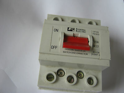 Federal Electric 125 Amp Fesd3 125 Amp Switch Disconnector