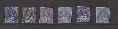 Great Britain Queen Victoria 1887 Jubilee issue 2 1/2d purple on blue SG74