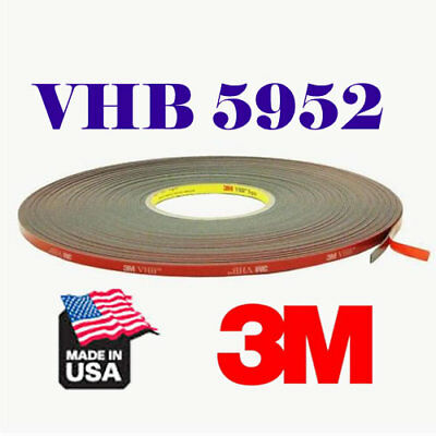 3M 5952 VHB 8mm x 33Meters Double Sided Foam Adhesive Automotive Mounting Tape
