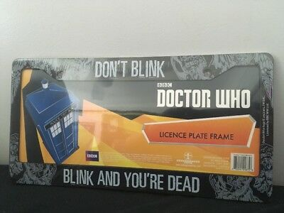 Doctor Who Licence Plate Frame Size 31cmx16cm
