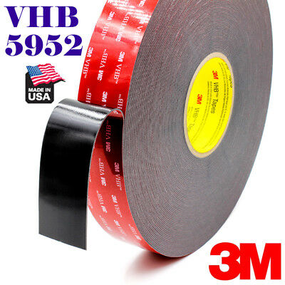 "3M 1""In x 9'Ft VHB #5952 Double Sided Foam Adhesive Tape Automotive Mounting"