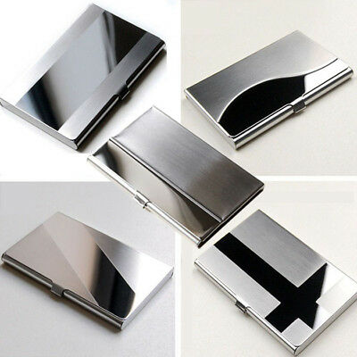Business ID Name Credit Card Wallet Holder Stainless Steel Silver Aluminium Case