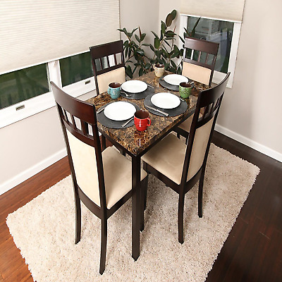 Kitchen Dining Room Set Dinette Chairs Table Breakfast Furniture 5 Piece Wood