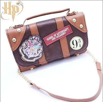 Harry Potter Wallet Purse Hogwarts Bag Marauders Map Badge Castle Crest Satchel