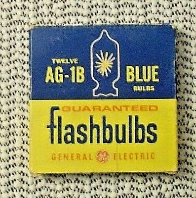 GENERAL ELECTRIC AG-1B Blue Flashbulbs - VERY Vintage Box Almost Full (11 of 12)