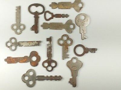 Lot Of 13 Antique Vintage Flat Skeleton Keys Corbin Yale & Towne and More!