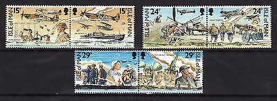 1990 Isle of Man, 50th Anniv. Battle of Britain, NH Mint Set of Stamps,SG 449-54