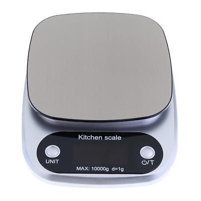 10KG/1g Silver Digital LCD Electronic Kitchen Cooking Food Weighing Scale