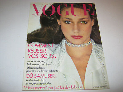 vpk / original VOGUE paris Nr. 541 Nov. 1973 Models  Modefotografie (84.)