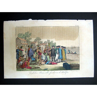 PENN The Foundation of Philadelphia - 19th Century Hand Coloured Antique Print