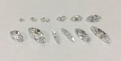 Cubic Zirconia Loose Stone MARQUISE shape crystal gem clear  x1 x5 x10 PREMIUM