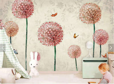 Cozy Pink Dandelion 3D Full Wall Mural Photo Wallpaper Printing Home Kids Decor