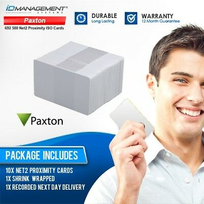 10 Paxton Net2 Proximity PVC ID Cards • Ships Worldwide