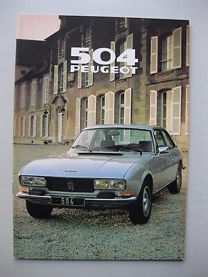 Peugeot 504 Coupe Cabriolet Depliant Prospekt brochure Dutch language 1979