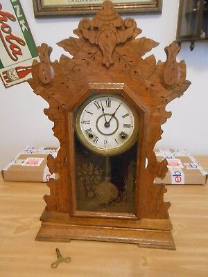 Antique Seth Thomas Oak Kitchen Clock