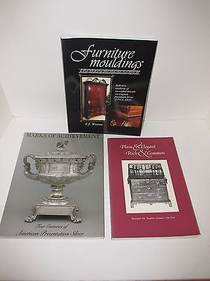 Antique Reference Books, Lot of 3, New Hampshire Furniture,  Moulding, Silver