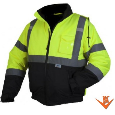 Hi-Viz Pyramex RJ32 Class 3 Reflective Jacket with Quilted Liner M-3XL*Free Ship