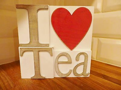 I Love Tea - Wall Hanging - Maison Vintage Home - Chunky And Small