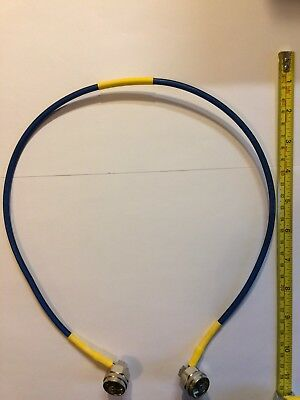 HUBER+SUHNER Low Loss RF Microwave Coaxial Cable Assembly 50 Ohm N Type VHF UHF