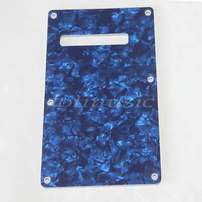 Blue Pearloid Cavity Cover For Strat Guitar Trem Cover 3ply Back Plate Parts