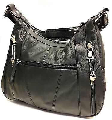 723cf2e3c2ba LEATHER CONCEALED CARRY Gun Purse Left Right Hand Locking Zipper CCW CWP Bag