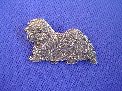 Havanese Pin TROTTING #83C Pewter Toy Dog Jewelry by Cindy A. Conter rare breed
