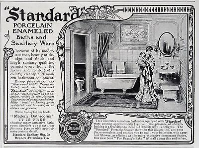 """1903 Ad(F26)~""""standard"""" Porcelain Enameled Bath And Sanitary Ware"""