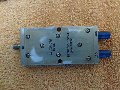 Merrimac coupler splitter 680 to 780 MHZ (700 MHz) Mdl PDM-22-G/30255 SMA 2 way