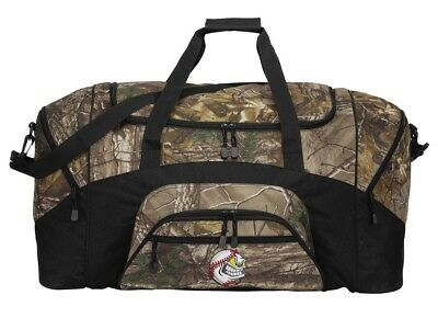Camo Baseball Duffle Bag Or RealTree Camo Baseball Gym Bag. Broad Bay