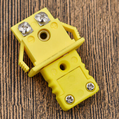 Plastic Shell Thermocouple K Type Panel Mount Miniature Socket & Plug Connector