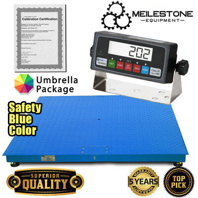 "New 10000x1lb 60""x60"" Floor/Pallet Scale w/High End Indicator & Calibration Cert"