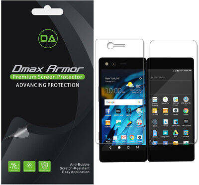 3-Pack Dmax Armor HD Clear Screen Protector shield for ZTE Axon M (Total 6 pcs)