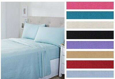 Cotton Fitted Bed Sheet Single Double King Super King Easy care Percale Non Iron