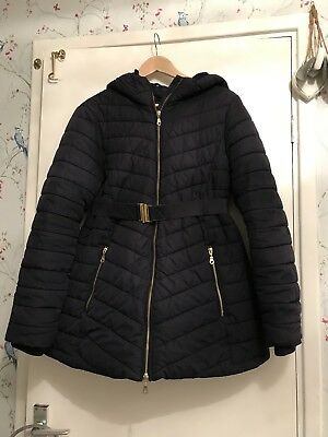 Ladies H&M MAMA Maternity Winter coat Size M Navy Blue
