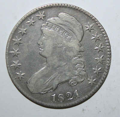 1821  Capped  Bust Half G5R